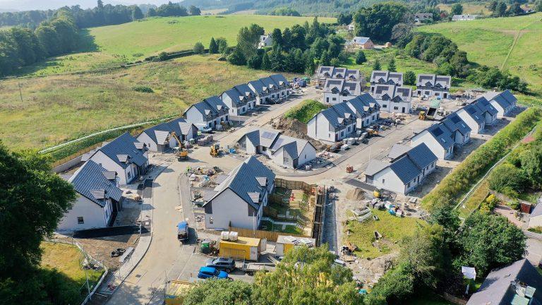 kinellan, strathpeffar 39 houses aerial view